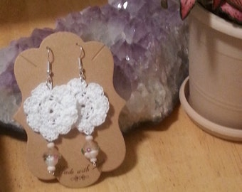 SHIPPING INCLUDED hand crocheted earrings