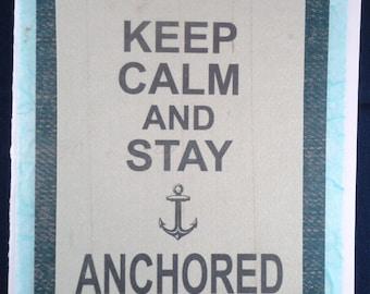 """Blank Card """"Keep Calm and..."""""""