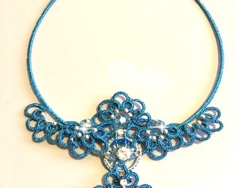 Night of stars-necklace OOAK wedding chatter