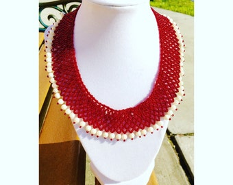 Adelaide. Beaded Necklace.