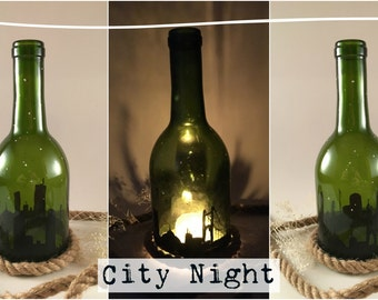 Wine Bottle Candle Holders (Series 1)