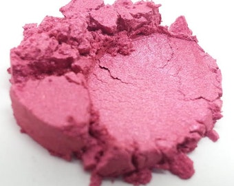 Fuchsia, Raspberry Pink Shimmer Cosmetic Grade Mica - Ready to Wear - 5 Gram Jar