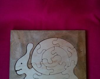 Wooden Snail Puzzle
