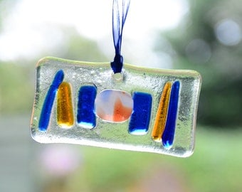sun catcher orange blue