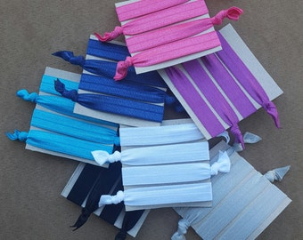 4 Pack Solid Color Hair Ties