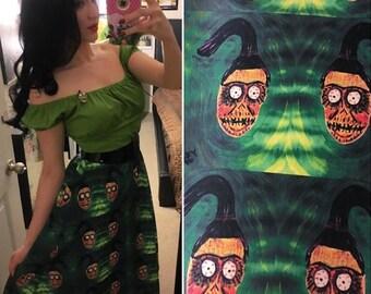 Tiki Shrunken Head Skirt