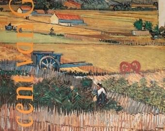 Vincent van Gogh print - vintage exhibition poster - offset lithograph 1990