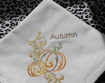 Autumn Fall flour sack towel