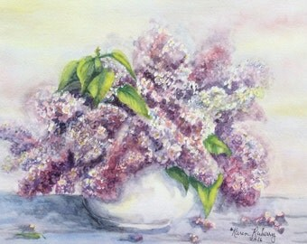 Purple Lilacs (Giclee print)