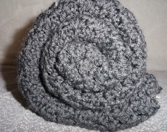Dark Grey Crochet Baby Blanket