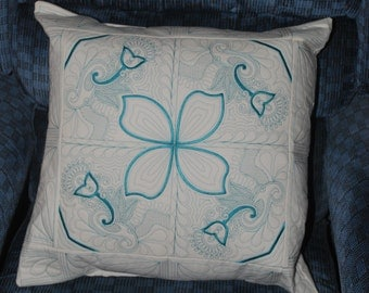 Teal Paisley Pillow