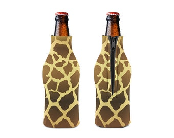 Giraffe Zipper Style Beer Bottle Coozies / bottle beverage insulator , Cozies (KB-028)