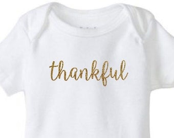 Thankful Baby Bodysuit // Fall // Thanksgiving