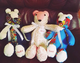 Custom Stuffed Memory Bear