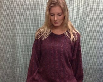 80s /90s vintage Maroon pullover sweater