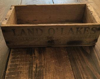 Vintage Land O' Lakes 2lb. Cheese Box