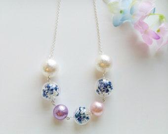 Cute & Dainty, Real Seed-Bearing , Glass Globe Pendant Necklace, Handmade