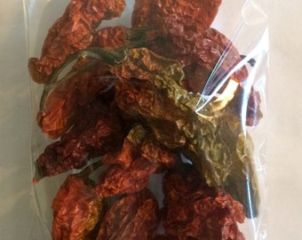 Ghost Pepper Bhut Jolokia Hot Whole Dried Spice 12 Pods
