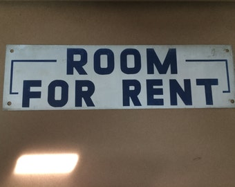 Vintage 1950's Wall Signs - Room for Rent