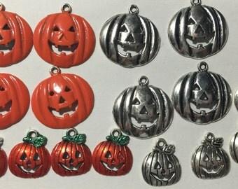 Great set of Jack O Lantern Charms