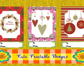 Printable Gift Cards, Cute Cards, Christmas Cards , CARD-POPPNAVI-20