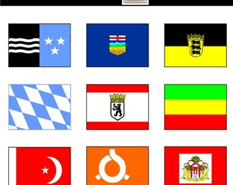 Flags of the World: 151 World Flags Clip Art 1 - instant download