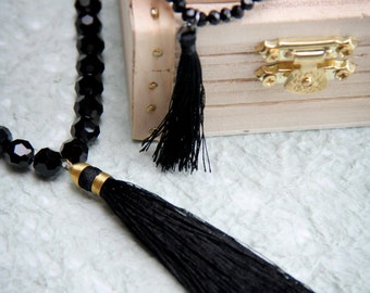 Tassel Necklace and Bracelet Set