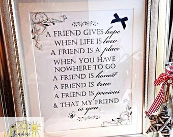 A4 Personalised Friendship Print