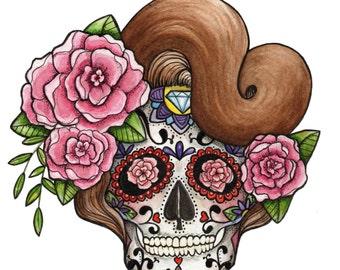 Day of the Dead Sugar Skull Print