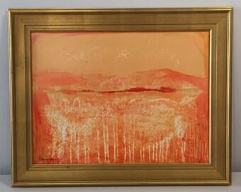 Framed Painting, Acrylic on Canvas