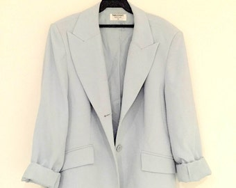 Super Cool Blue Grey 80s 90s blazer