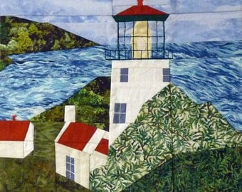Heceta Head, OR Lighthouse quilt pattern - ON SALE