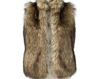 Faux Fur Wolf Vest Custom