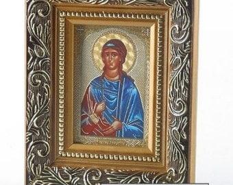 "Icon of the St Kristin (Kristina) Святая Великомученица Кристина 4.4""х5.4"""