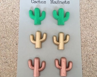 Cactus magnets / Pack of 6 / Fridge magnets / Office magnets / Home accessory