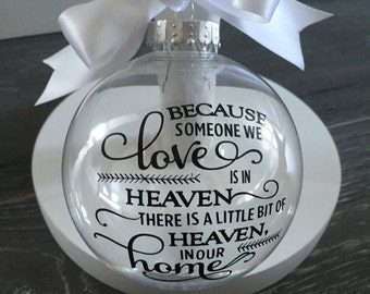 Personalised Memorial Christmas Bauble, Absence, In Loving Memory Xmas decoration gift