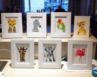 Discount FULL SET - Nursery Watercolour Prints