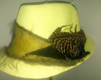 uniqe hat  with eagle feather