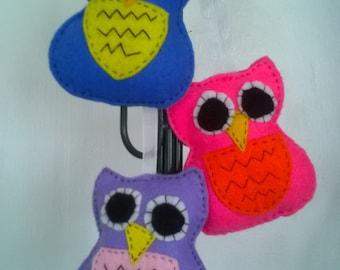 funky felt owls