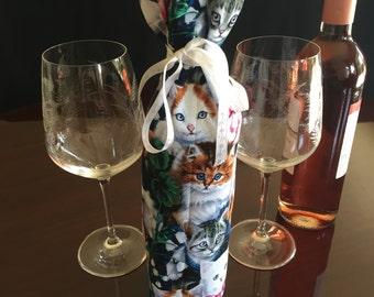 The Cat's Meow Wine Bottle Gift Bag