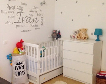 Custom Wall decals for Nursery