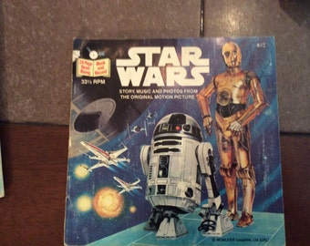 Star Wars book and record set.
