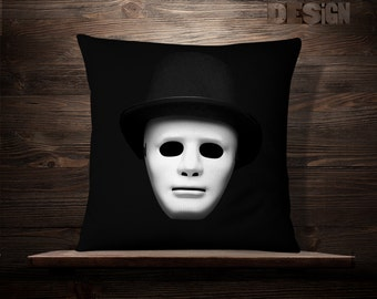 Halloween Mask Pillow | Scary Mask | Halloween Throw Pillow | Halloween Decoration | Halloween Gift | Halloween Decor  | Halloween Pillow