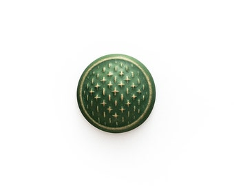 Ceramic Green Matte Sashiko Cabochon 1 piece