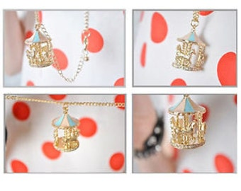 Carousel Merry Go Round Horse Necklace