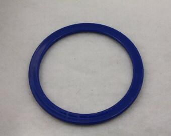 12pcs Vintage Stacking Bangle Cuffs Royal Blue