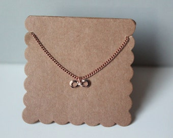 Rose Gold Infinity Necklace // dainty rose gold necklace // with gift packaging