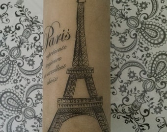 Large | 7X3 | Pillar Candle | Paris/London Inspired | Eiffel Tower