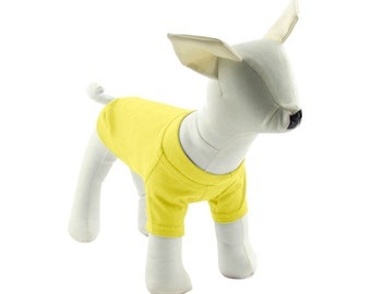 Yellow Dog T-Shirt - Dog Tees - Dog Shirts - Pet Shirts - XXS to XXL
