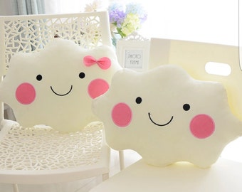 Plush girls cloud cushion